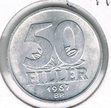 50 Fillér, Hungary, 1967