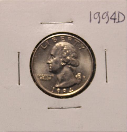 1994 D Washington Quarter