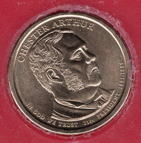 2012 D Presidential Dollars: Chester A. Arthur -#1ca