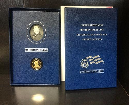 2008 US Mint Presidential Historical Signature Set Andrew Jackson