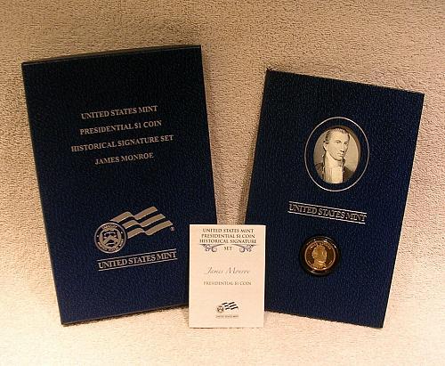 2008 James Monroe Presidential Historical Signature Set