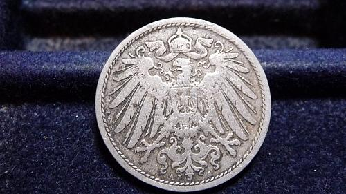 1897-A GERMANY 10 PFENNIG COIN IN FINE CONDITION  C-12-21