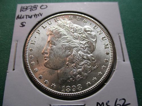 1898-O  MS62 Morgan Dollar  Item: DM 98O-05.