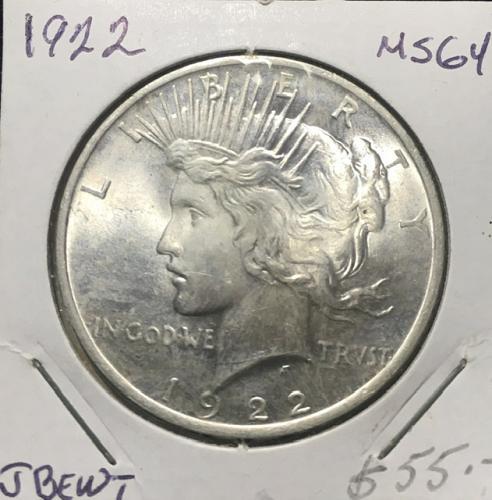 1922 P Peace Dollar  MS64