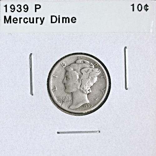 1939 P Mercury Dime - 4 Photos!