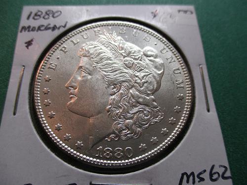 1880  MS62 Morgan Dollar.  Item: DM 80-07.