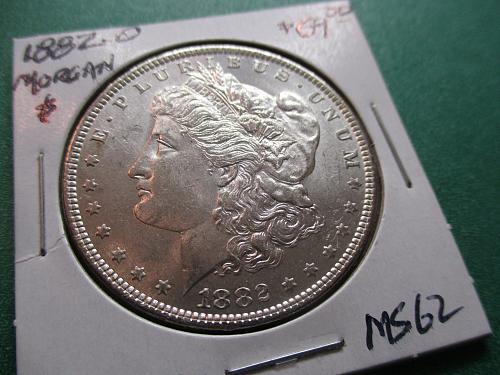 1882-O  MS62 Morgan Dollar.  Item: DM 82O-10.