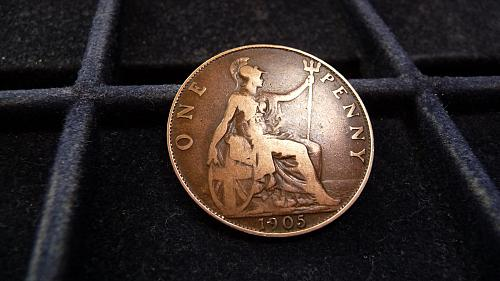 1905 GREAT BRITAIN ONE LARGE PENNY IN GOOD/VERY GOOD CONDITION  C-13-21