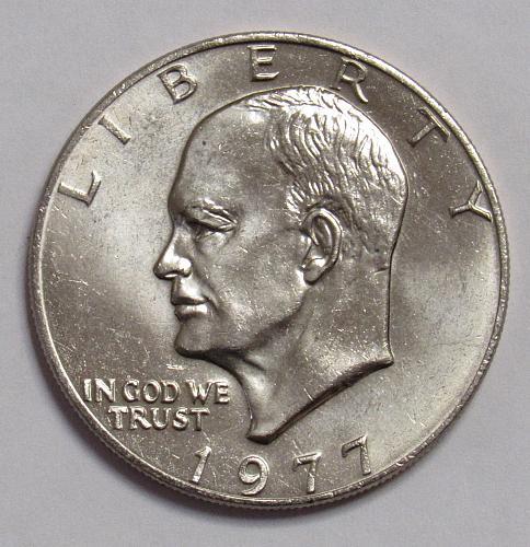 1977 P Eisenhower Dollar in BU