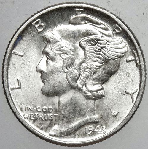 1943 P Mercury Dime#6