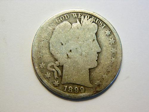1899-P Barber Silver Half Dollar