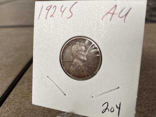 1924 S Lincoln Wheat Cent with some excellent details, see photos