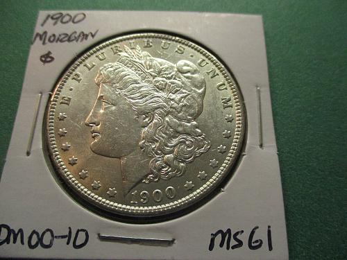 1900  MS61 Morgan Dollar.  Item: DM 00-10.