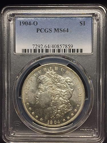 1904-O Morgan Dollar PCGS MS64
