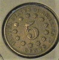 1874- P Shield Nickle  Better Date