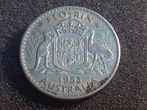 1953 Australia (Silver) Florin