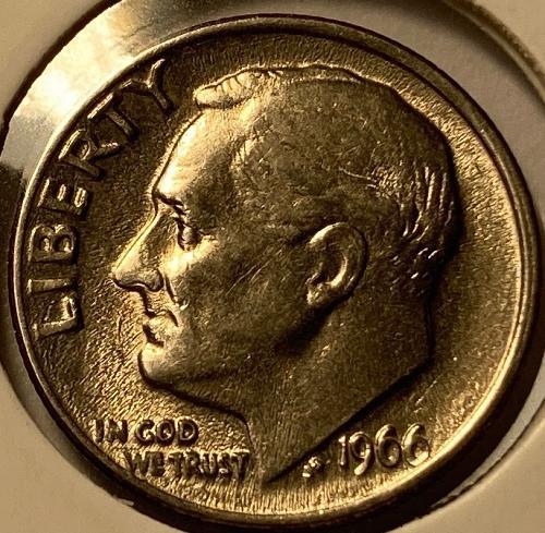 1966 P Roosevelt Dimes