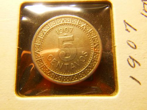 MEXICO 1907 M 5 CENTAVOS