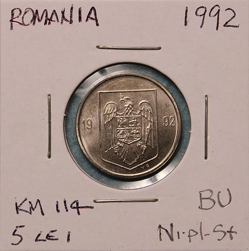 Romania 1992 5 Lei