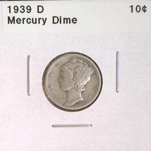 1939 D Mercury Dime - 4 Photos!