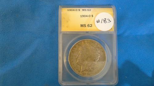 1904 MS 62 MORGAN SILVER DOLLAR ITEM # 183