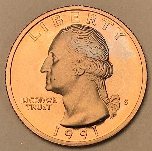 1991-S Proof Washington Quarter [BSWQ 640]