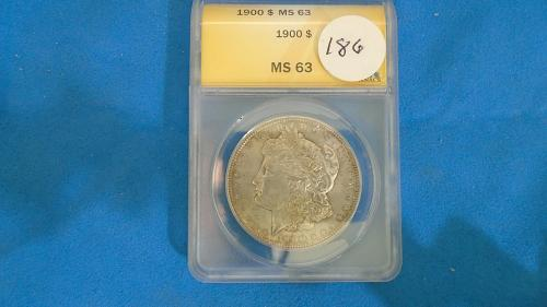1900 MS 63 MORGAN DOLLAR ITEM # 186
