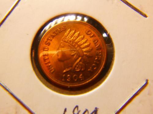 INDIAN HEAD PENNY 1904 COPY