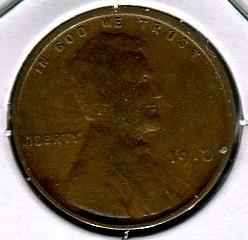 1910  LINCOLN  CENT    VERY GOOD