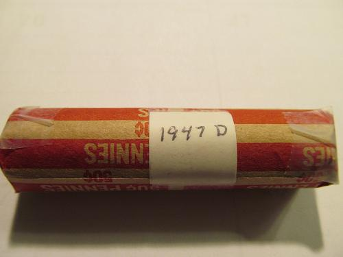 Roll 1947-D Wheat Cents