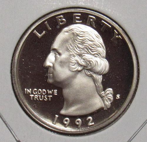 1992 S Proof Washington Quarter