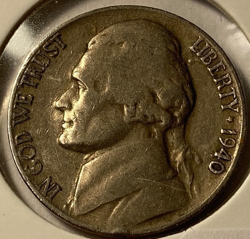 1940 D Jefferson Nickels