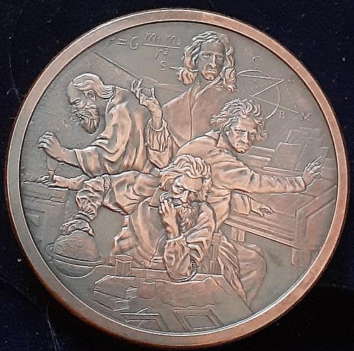 Silver Shield Mini Mintage * Quadrivium *  2oz Copper Round *  (antiqued)