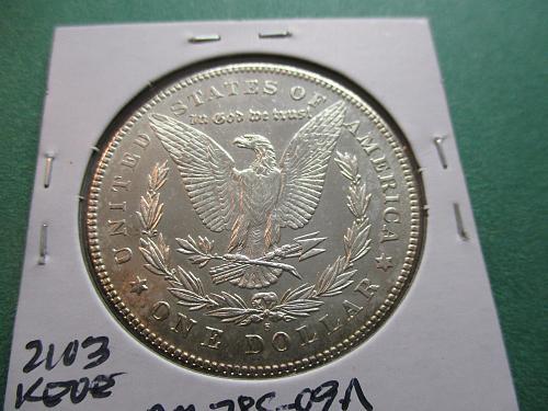 1878-S  MS62 Morgan Dollar.  Item: DM 78S-09.