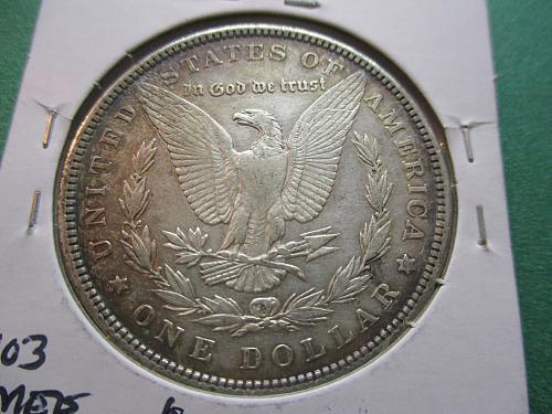 1885-O  AU55 Morgan Dollar.  Item: DM 85O-12.