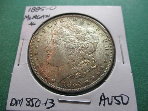 1885-O  AU50 Morgan Dollar.  Item: DM 85O-13.