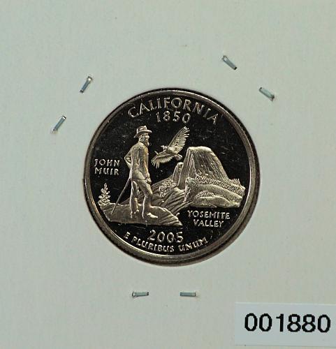 2005 S California State Quarter -- Clad --