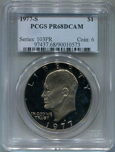 1977 - S  Eisenhower Dollar    PCGS     PR68DCAM