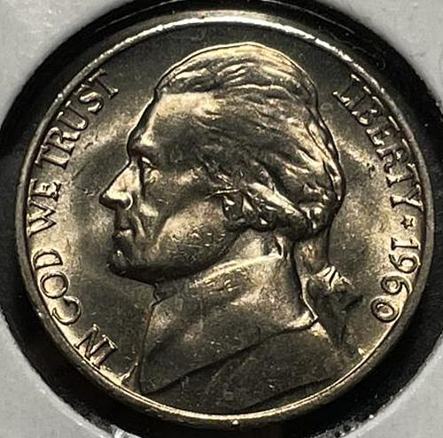1960 Jefferson Nickels Pre-War Composition. V3P4R3C4