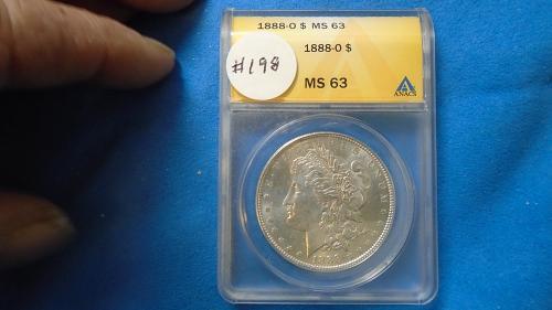 1988-O  MS 63 MORGAN SILVER DOLLAR ITEM # 198