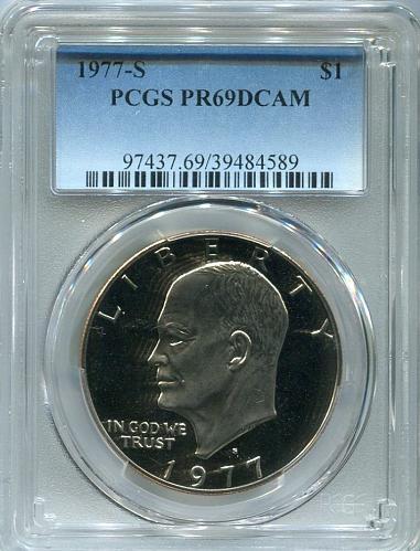 1977 - S  Eisenhower Dollar    PCGS     PR 69 DCAM