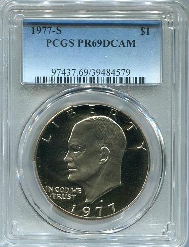 5 - 1977 - S  Eisenhower Dollar    PCGS     PR 69 DCAM