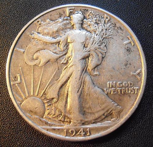 1941 D Walking Liberty Half Dollar, 90% Silver coin (41DEW1)