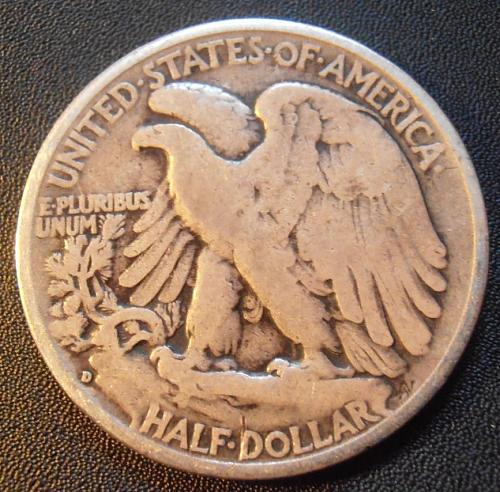 1935 D Walking Liberty Half Dollar, 90% Silver coin (35DEW1)