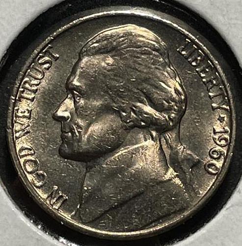 1960 Jefferson Nickels Pre-War Composition. V3P4R4C3
