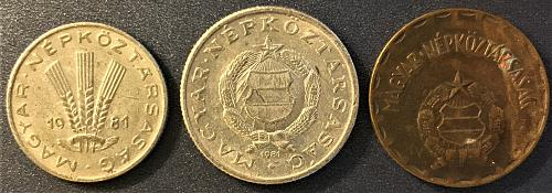 Hungary - 1981 - 2 and 1 Forint; 20 Filler