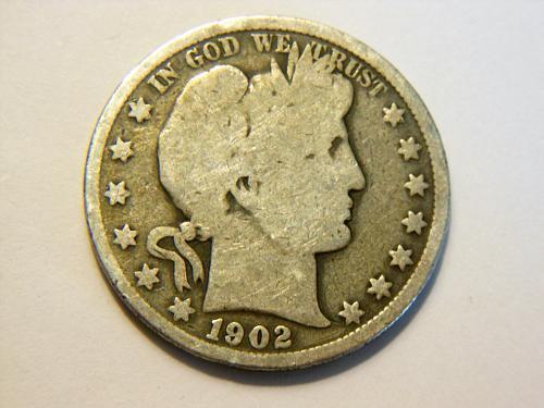 1902-P Silver Barber Half Dollar
