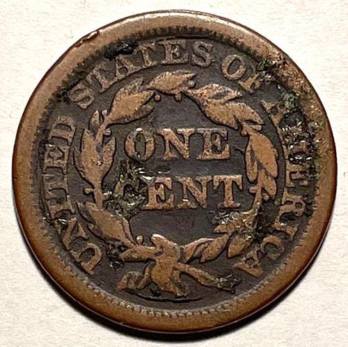 1848 Braided Hair Liberty Head Large Cents.  V3P5R1C2