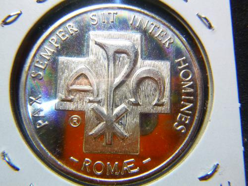 PAX SEMPER SIT INTER HOMINES ROME JOANNES PAVS II PONT MAX SILVER COIN