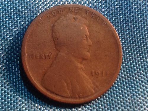 1911 P Lincoln Cent